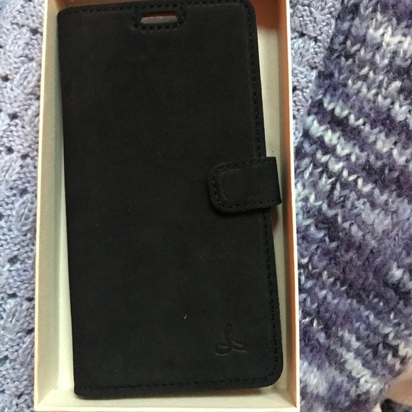 brand new dfbb9 37d4a Vintage Black Leather Snakehive Wallet iPhone X/XS NWT